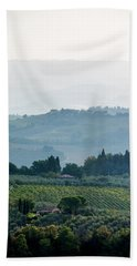 Bath Towel featuring the photograph Tuscan Afternoon by Jean Haynes
