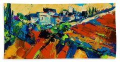 Hand Towel featuring the painting Tuscan Light by Elise Palmigiani