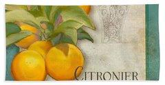 Tuscan Orange Tree - Citronier Aurantiaco Lignum Vintage Bath Towel