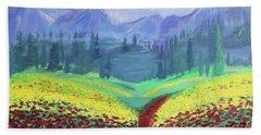 Tuscan Poppies Bath Towel