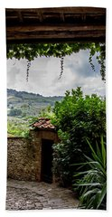 Tuscan Street View Hand Towel by Jean Haynes
