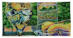 Hand Towel featuring the drawing Tuscan Summer Lemonade  by Peter Piatt