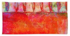 Hand Towel featuring the photograph Tuscan Trees In Vivid Color by Suzanne Powers