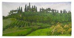 Tuscan Villa Hillside Bath Towel