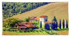 Tuscan Vineyard Bath Towel