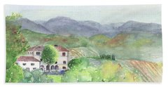 Tuscan Vineyards Bath Towel