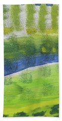 Bath Towel featuring the painting Tuscany Garden by Don Koester