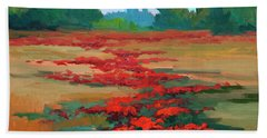 Tuscany Poppy Field Hand Towel by Diane McClary