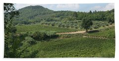 Tuscany Vineyard Bath Towel