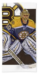 Tuukka Rask Boston Bruins Oil Art 1 Bath Towel