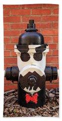 Tuxedo Hydrant Hand Towel by James Eddy