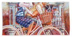 Hand Towel featuring the painting Tweed Runners On Pashleys by Mark Howard Jones