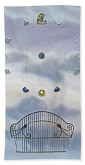 Hand Towel featuring the painting Twelve by Laurie Stewart