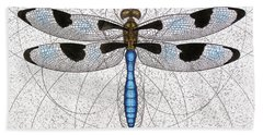 Twelve Spotted Skimmer Bath Towel