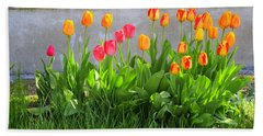 Twenty-five Tulips Bath Towel