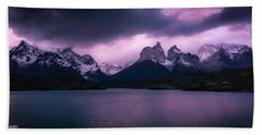 Twilight Over The Lake Hand Towel by Andrew Matwijec