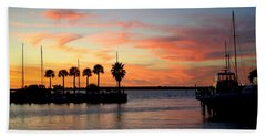 Twilight At The Marina Hand Towel