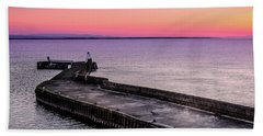 Twilight, Burghead Harbour Hand Towel