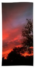 Twilight Fire Bath Towel
