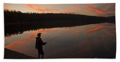 Twilight Fishing Delight Hand Towel