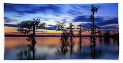 Twilight On Lake Martin Swamp Bath Towel