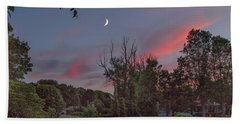 Twilight Moonrise Bath Towel