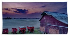 Twilight On The Farm Hand Towel