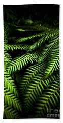 Twilight Rainforest Fern  Bath Towel