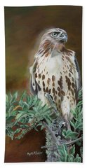 Hand Towel featuring the painting Twilight Sentinel by Phyllis Beiser