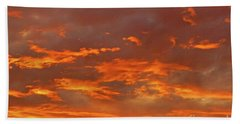 Bath Towel featuring the photograph Twilight Sky by Val Miller