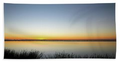 Twilight Stillness Down By The Beach Lagoon Hand Towel
