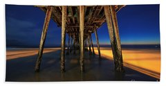 Twilight Under The Imperial Beach Pier San Diego California Hand Towel