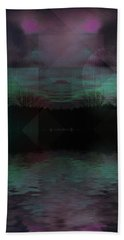 Hand Towel featuring the digital art Twilight Zone by Mimulux patricia no No
