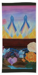Twin Flame Bath Towel