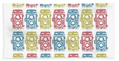 Twin Lens Camera Pattern Hand Towel