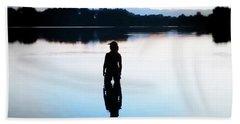 Twin Peaks Silhouette Bath Towel by Joseph Hendrix