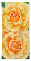 Twin Roses Bath Towel by Tim Gainey