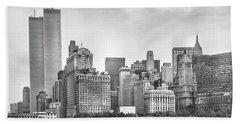 Twin Towers New York Skyline Bath Towel