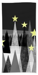 Twinkle Night Hand Towel by Val Arie