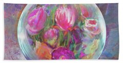 Twirling In Tulips Hand Towel