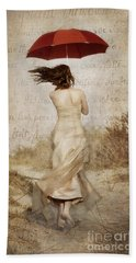 Twirling Painted Lady Hand Towel