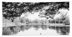 Hand Towel featuring the photograph Two At The Pond by Karol Livote
