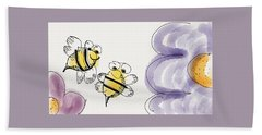 Two Bees Or Not Two Bees Bath Towel by Jason Nicholas