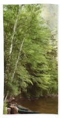 Two Birches Bath Towel