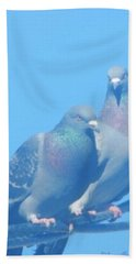 Two Birds In Spring Hand Towel