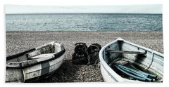 Two Boats On Seaford Beach Hand Towel