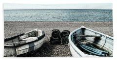 Two Boats On Seaford Beach Bath Towel