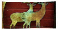 Two Bucks 1 Bath Towel by Larry Campbell