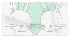 Two Bunnies- Art By Linda Woods Bath Towel