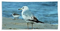 Two By The Sea  Hand Towel by Christy Ricafrente